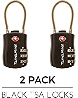 TSA Approved Travel Combination Cable Luggage Locks for Suitcases & Backpacks - 1, 2 & 4 Pack