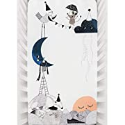 Mini Crib Sheet by Rookie Humans: 100% Cotton Sateen. Use as a Photo Background for Your Baby Pictures. Fits Mini Crib Size (38x24 inches) (Moon's Birthday)