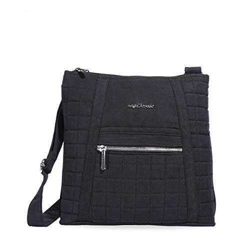 Angel Barcelo Womens Fashion Sling Shoulder Bag Cross Body Tote Handbag Black