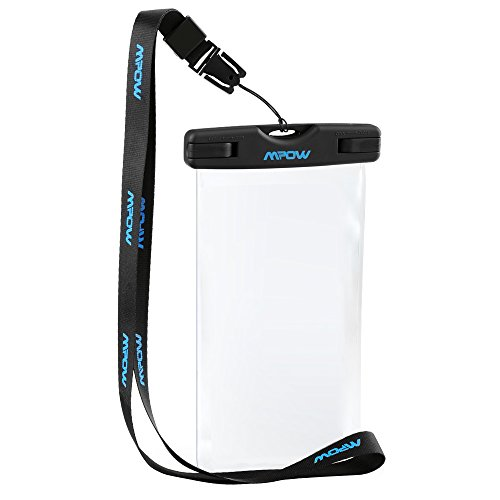 Mpow Universal Waterproof Case Floating Dry Bag Buggy Bag for Outdoor Sports with Ipx8 Certified for Devices under 6 Inches
