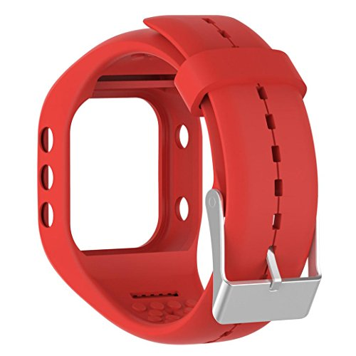 Alonea Soft Silicone Rubber Watch Band Wrist Strap For Polar A300 Fitness Watch (Red) - Watch Band Polar