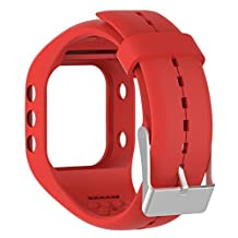Efitty Replacement Soft Silicone Band Rubber Watch Band Strap For Polar A300 Fitness Watch (Red)
