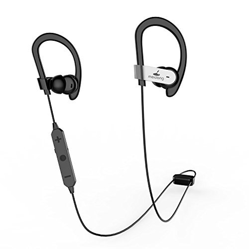 Active Noise Cancelling Earphones - Active Noise Cancelling Bluetooth Earbuds, Meidong HE8C Ear buds In Ear Earphones Sports Headphones with Hard Travel Case/15 Hours Playtime/Deep Bass/apt-X CSR Built in Microphone (Update)