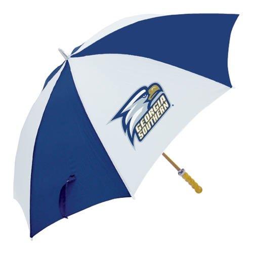Georgia Southern Eagles Golf - Georgia Southern 62 Inch Navy/White Umbrella 'Georgia Southern w/ Eagle Head'
