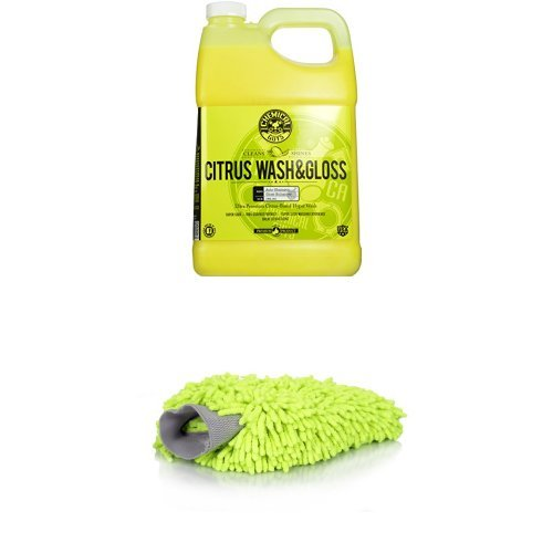 Chemical Guys Citrus Wash and Gloss Concentrated Car Wash and Wash Mitt Bundle