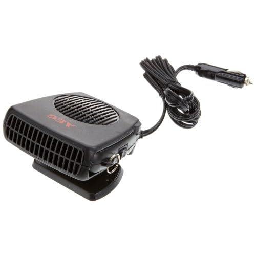 AEG 97201 Dégivrant avec ventilateur, chaud/ froid, 150watts, avec raccordement 12volts automobile, pied et poignée