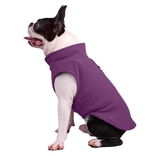 - aibushishou Fleece Cold Weather Dog Vest for Small Dogs (Medium Chest (~13.5