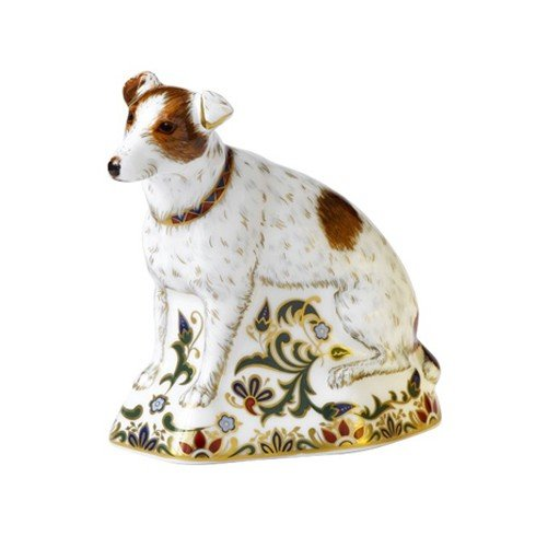 Royal Crown Derby - Jack Russell Imari Red