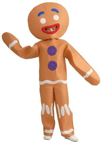 Shrek Gingerbread Man Kids Costume, Large -