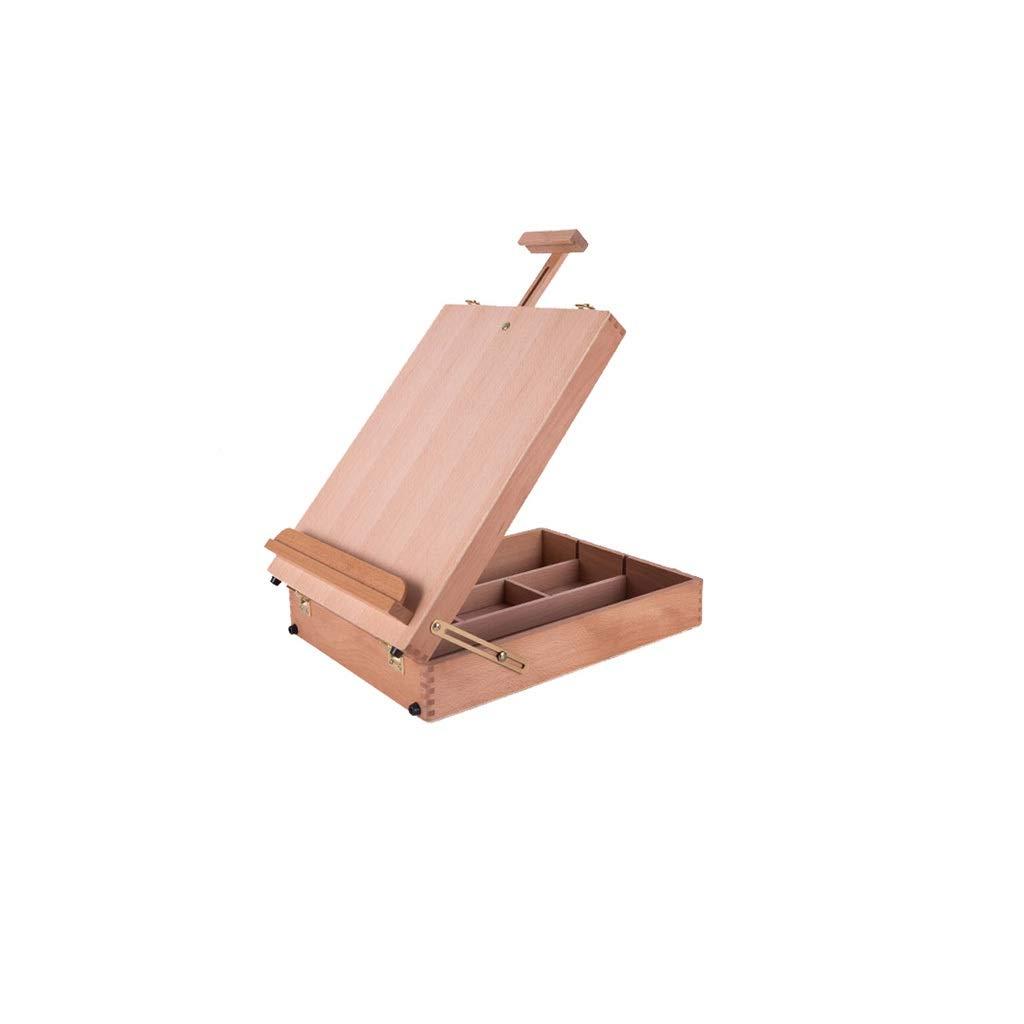 スケッチイーゼルツール油絵ボックス木製ポータブルブナの木製の写真ボックス、統合されたストレージ、さまざまなペイントツール、友人の贈り物に配置することができます PingFanMi   B07QMPK5R6