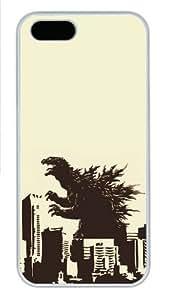 Godzilla Polycarbonate Plastic Case For Sam Sung Galaxy S4 Mini Cover White
