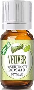 Vetiver - 100% Pure, Best Therapeutic Grade Essential Oil - 10ml