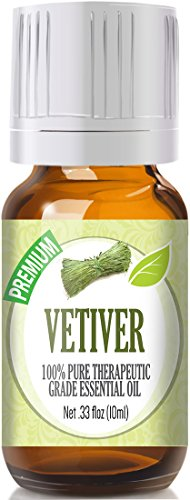 Vetiver - 100% Pure, Best Therapeutic Grade Essential Oil - 10ml ()