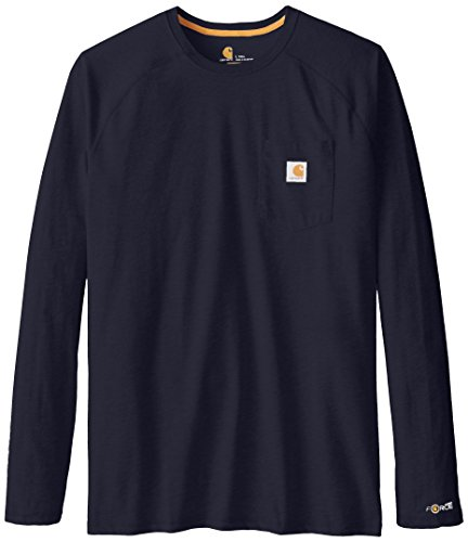 Price comparison product image Carhartt Men's Big & Tall Force Cotton Long Sleeve T-Shirt, Navy, XXX-Large