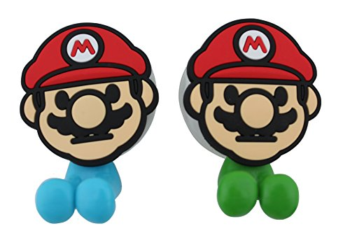 Finex® *Set of 2* Super Mario Brothers Toothbrush Holders with Suction Cup for wall in bathroom at home (Super Mario Brothers Cups compare prices)