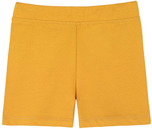 Lovetti Girls' Basic Solid Soft Dance Short for Gymnastics or Under Skirts 6 Mustard