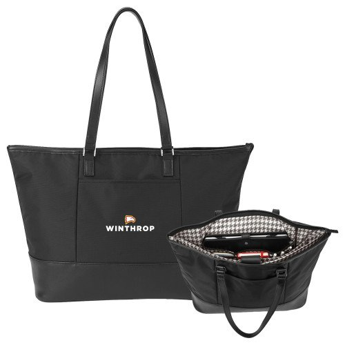 Winthrop Stella Black Computer Tote 'Primary Mark' by CollegeFanGear