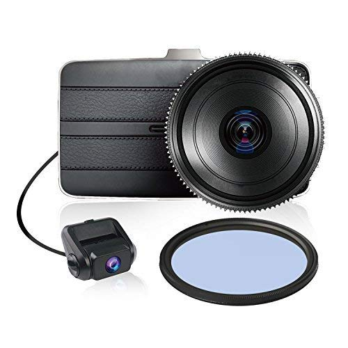 KDLINKS DX2 Full-HD 1080P Front + 720P Rear 290° Super Wide Angle Car Dash Cam with G-Sensor & WDR Superior Night Mode, 1 Year Dashcam Warranty ()