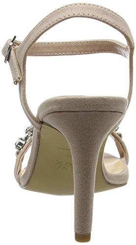 New Look Zark, Zapatos con Tacon y Correa de Tobillo para Mujer Hueso (Oatmeal)
