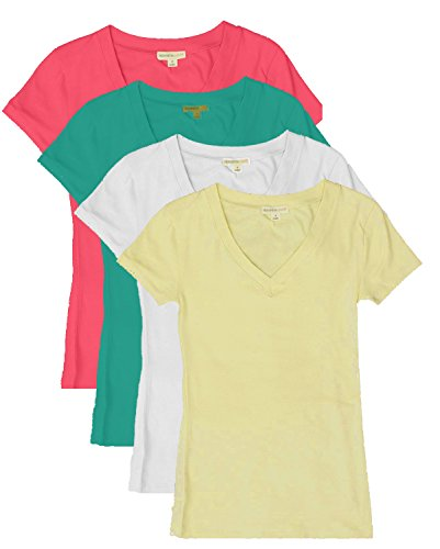 tl-womens-2-or-3-or-4-pack-basic-cotton-short-sleeves-solid-v-neck-t-shirts-set4-fuch-stel-wht-ban-s