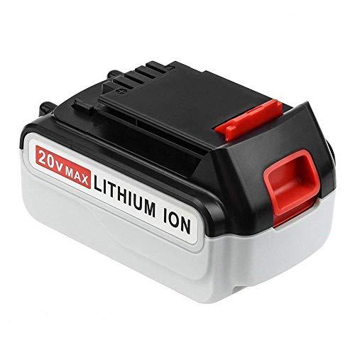 4000mAh LBXR20 Replace for Black and Decker 20V Max Battery Lithium LBXR20-OPE LB20 LBX20 LBX4020 LB2X4020-OPE Cordless Tool (Lithium 20 Volt Battery)
