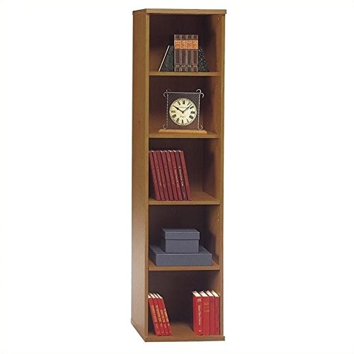 Bush Furniture Natural Cherry Series C Open Single Bookcase