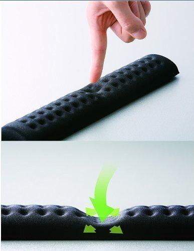 Elecom Comfy Fatigue-relieving ergonomic Keyboard keypad Wrist Pad MOH-012 (Black) (Dec Keyboard)