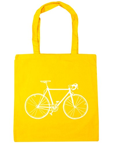 42cm litres HippoWarehouse Yellow Shopping illustration Tote Beach Bag x38cm bike 10 Gym rwH0xvrq