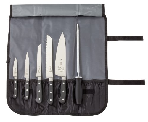 Mercer Culinary 7-Piece Forged Renaissance Knife Set - Carbon No Stain Butcher Knife