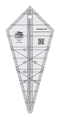 Creative Grids Quilting Ruler Template Starburst 30 Degree Triangle (Triangle Grid)