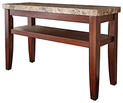 Amazon Com Wood Console Table With Marble Top Console Table With
