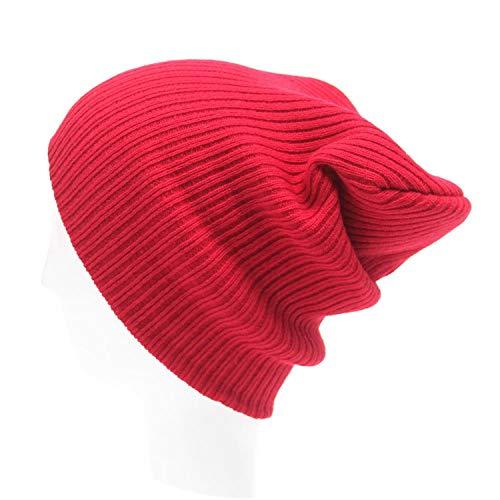 (Solid Cap Men's Women Beanie Knit Ski Cap Hip-Hop Winter Warm Unisex Wool Hat Winter Hats for Women)