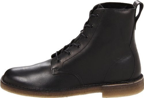 CLARKS Originals Men's Black Leather Desert Mali 10.5 D(M) US