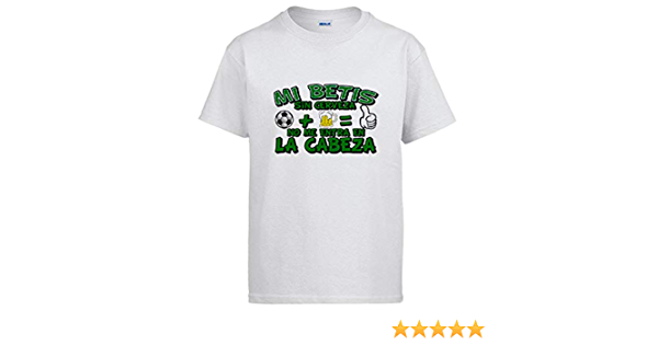 Camiseta bético sin Cerveza no me entra en la Cabeza: Amazon.es: Ropa y accesorios