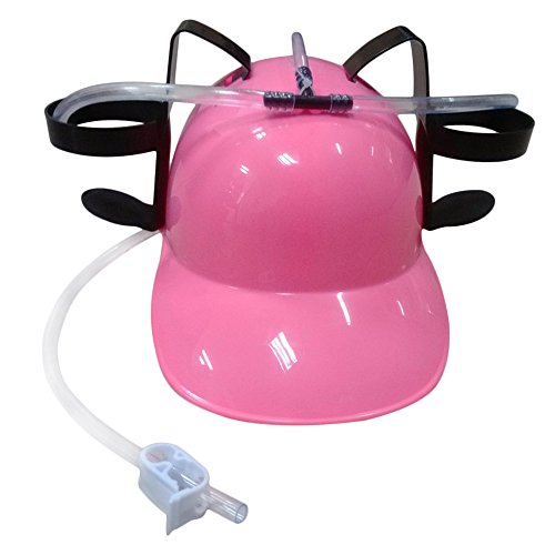[BIGBAG(TM) Beer and Soda Coke Cool Helmet Drinking Cap Drinking Hat with Straws Can Holder Toys Games Fun Party Hat] (Drinking Hats With Straws)