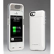 Febe 2500mAh External Backup Power Battery Charger Case Cover For iPhone 5 5S - White