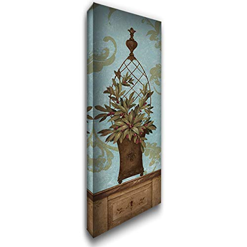 - Blue Olive Topiary I 27x80 Huge Gallery Wrapped Stretched Canvas Art by Gladding, Pamela