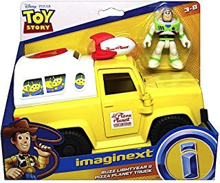 - Pizza Planet Truck with Buzz Lightyear Toy Story Imaginext Figures 2.5