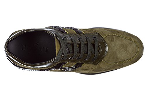 Green Interactive Shoes Suede Sneakers Trainers Hogan Women's qPZwzxY