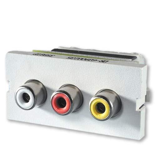 (OR-60900235 - Ortronics Series II 3-Phono Jacks/RCA, Fog White)