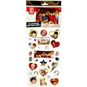 One Direction (1D) Set of 25 Full Color Stickers - Young and Fun (6