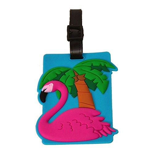 Flamingo Luggage Tags Suitcase Luggage Tag Label Tropical Luggage Identification alltoshop®