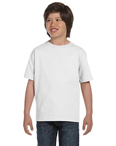 Gildan Dryblend Youth T-Shirt, Wht, Medium