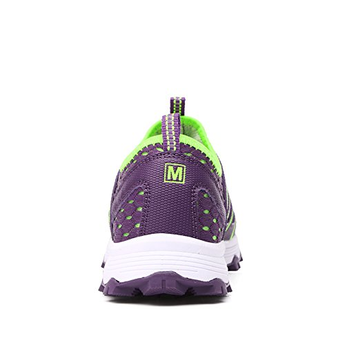 Slip Sport Gomnear Shoes on Breathable Summer Women Sneakers Purple AtqrYqIw