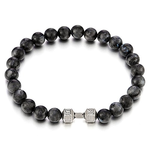 Energy Gemstone Bracelet Barbell Dumbbell