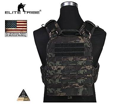 Elite Tribe - Chaleco táctico Militar de Combate CP Estilo AVS versión Pesada Cordura, Multicam Tropic: Amazon.es: Deportes y aire libre
