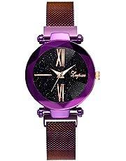 Balakie A74 - Reloj de pulsera para mujer, diseño casual, con diamantes de imitación, correa de malla de acero inoxidable, analógico, de cuarzo, ideal como regalo de negocios