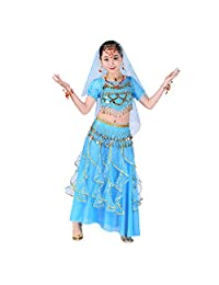 datework Handmade Children Girl Belly Dance Costumes Kids Belly Dancing Egypt Dance Cloth