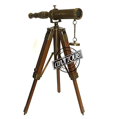 AV Vintage Brass Telescope on Tripod Stand / Brass for sale  Delivered anywhere in USA