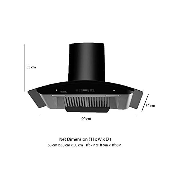 Hindware 60cm 1200 m3/hr Chimney (Revio 600, 2 Baffle Filters, Black)